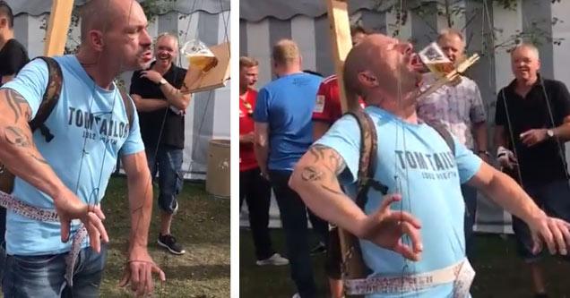 Bier marionet spel beer puppeteer huren